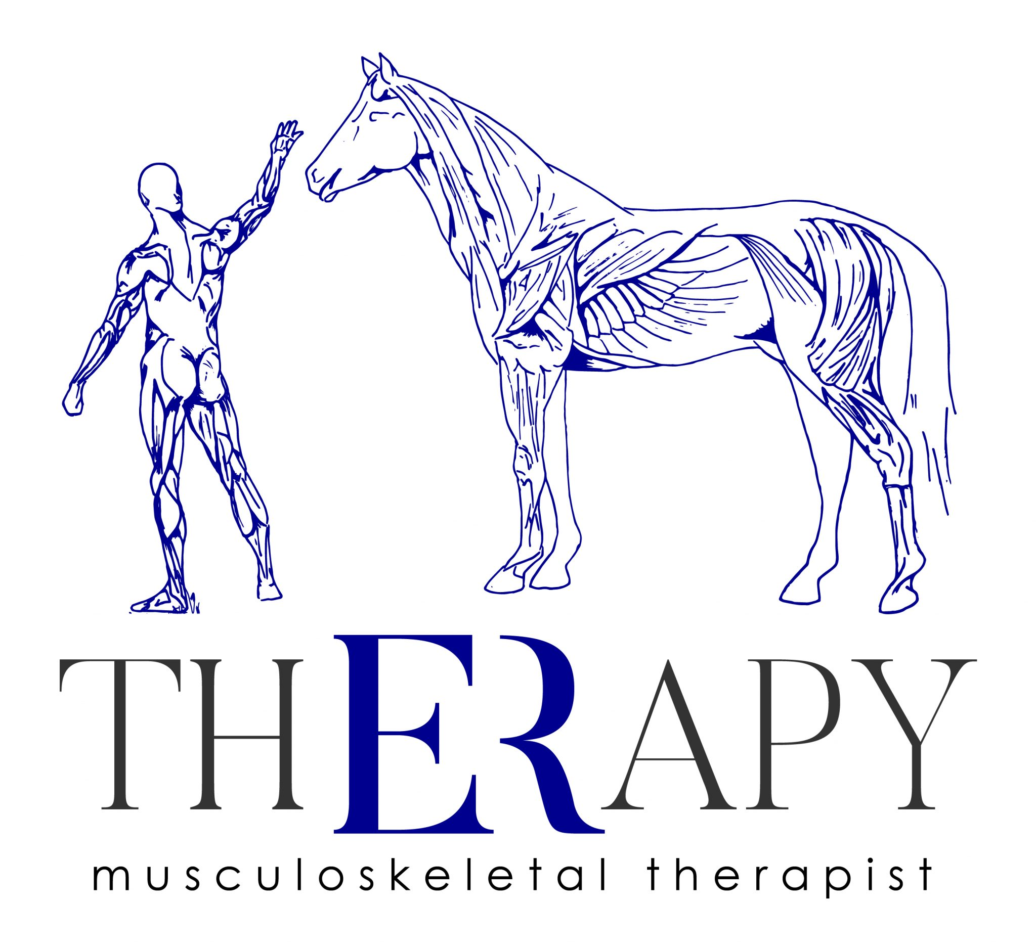 We developed a new logo for ER Therapy to showcase their musculoskeletal therapy service for both human and horses.