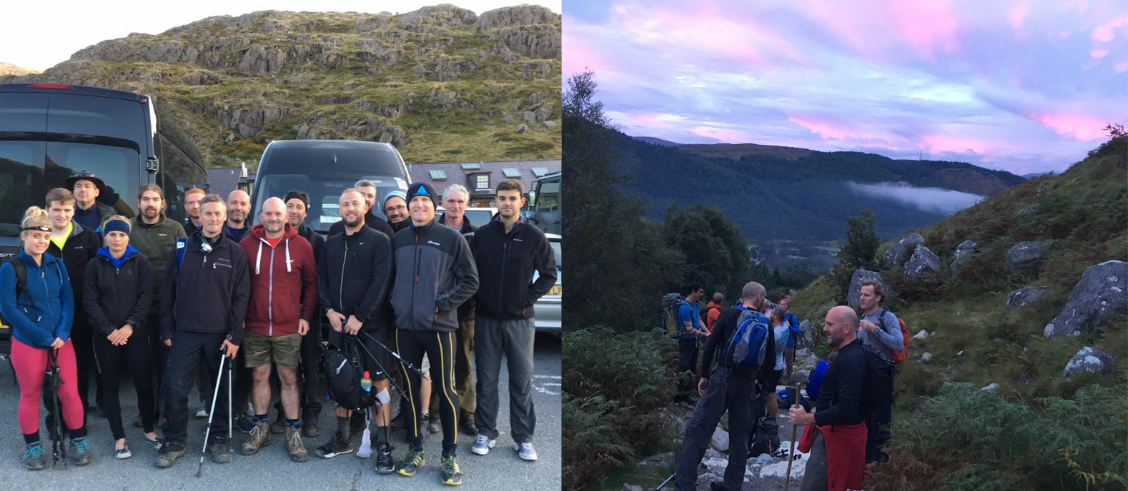 We organised a National Three Peaks charity event for 20 people which included everything from fitness preperation, travel, accomodation, mountain guides, fundraising events in the run up to the main event and much more