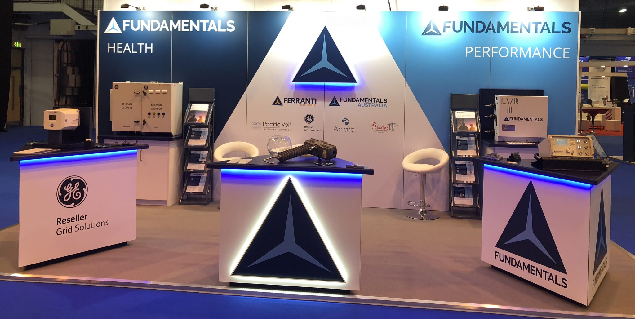 Stand design, stand build, set-up, breakown and team organisation for this indoor conference/ exhibition.